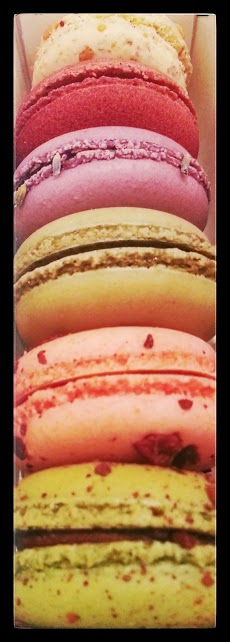 Mint Chocolate, Chocolate Orange Liquor, Pistachio, Blueberry Lavender, Red Velvet, & Praline flavors. To die for!