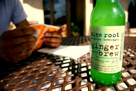 We love us, our Maine Root Sodas! This ginger brew had a bite to it! MMM