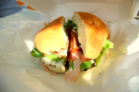 The Tampico! Highlights of the sandwich were the pepper-smoked turkey, black beans, queso fresco, and the buns! Oh, my!
