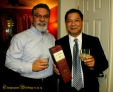 Two Fathers, sippin' on the couples' gift to them...The finest! Glenlevit