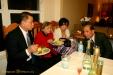 My family grubbin' away on Homemade Brisket, Queso, Beans, BBQ...soo yummy!